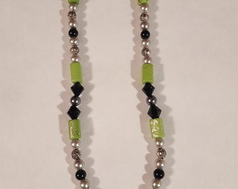 Black and Green Dragonfly Necklace