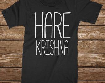 Hare Krishna T Shirt | Maha Mantra Vedic Religion Bhakti Yoga Meditaion ISCKON