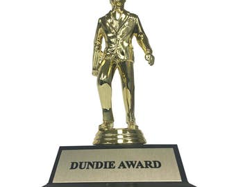 Dundie Award The Office TV Show Trophy Michael Scott Dunder Mifflin Paper Company Dundies Gift Idea Fan Costume Prop Dundee Dundees Dundy