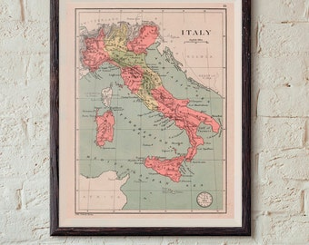 Map Of Italy Digital Online Maps Instant Download Printable