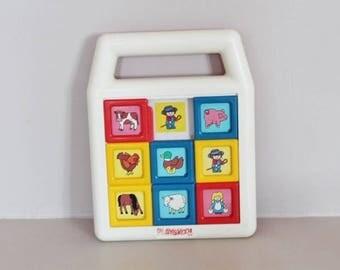Playskool brain-teaser, first age brain-teaser, vintage toy, child brain-teaser, vintage playskool, reflection toy