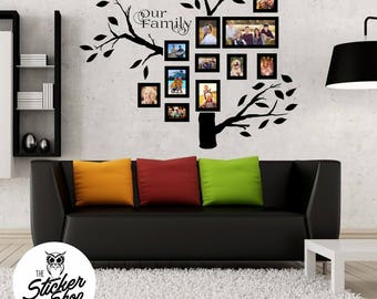 Family Tree Decals - photo wall
