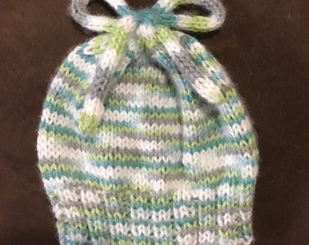 Knit Baby Bow Hat