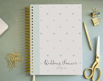A4/A5 Wedding Planner - Minty hearts Design