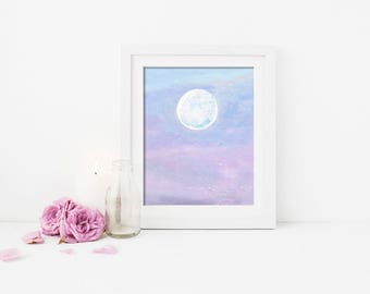 Nursery Wall Decor, Pastel Sunrise, Wall Decor, Acrylic Print