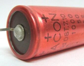 Electrolytic vintage capacitor 1000uF 50Vl 62Vi