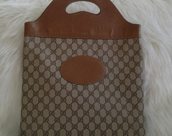 1970s Large Vintage Gucci Shopper Tote Monogram Style