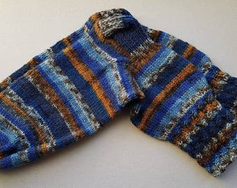 Blue brown socks, warm socks, wool socks, blue socks, brown socks, speckled socks, knit socks, nordic socks, winter socks, blue winter socks