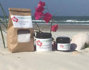 Spearmint Eucalyptus Foot & Leg Care Set with Essential Oils
