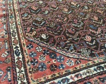 """10% OFF USE CODE SAVE10 4'4""""x7'1"""" Antique Persian Rug"""