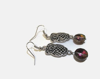 Owl Jewelry, Owl Earrings, Teacher Gifts, Dangle Earrings, Drop Earrings, Silver Earrings, Beaded Earrings, for her, Everyday Jewelry