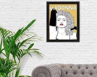 Madonna Portrait Print, Feminist Art, Feminism, Giclee Art Print