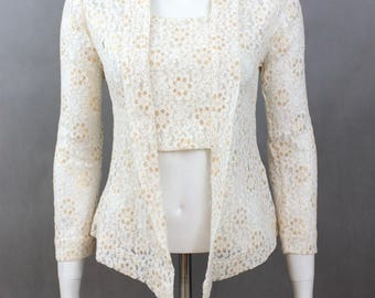 Spring fashion - Flirty florals - Transitional - French romantic - Wedding Blouses - Gold Floral - Vintage Floral Pattern - Long Sleeve