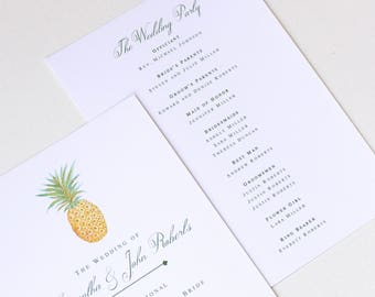 Pineapple Order of Service | Pineapple Wedding Program | Wedding Programs | Ceremony Program | Ceremony Programs | DIGITAL PDF #LGW2174