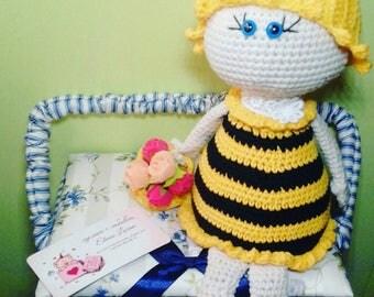 TO ORDER Bee Crochet Doll Amigurumi