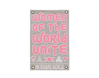 Women of the World Canvas Sign