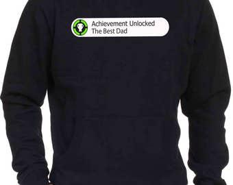 Best Dad Achievement Unlocked Fathers Day Hoodie Jumper