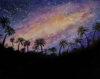 Milky Way Night Sky Acrylic Painting - 40cmx30cm