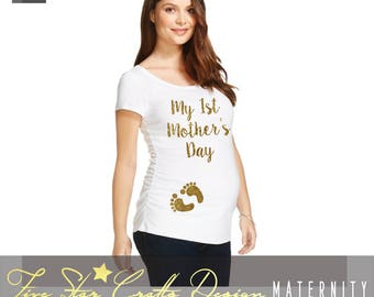1st Mothers Day Baby Bump Shirt,Expecting Mom Shirt,Preggers Shirt,Preggers Shirts,Preggers T Shirt,Preggers Top,Preggers TShirts,Preggers
