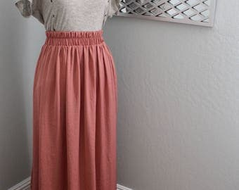 Silk Maxi Skirt/Bridesmaid Skirt/Custom Color