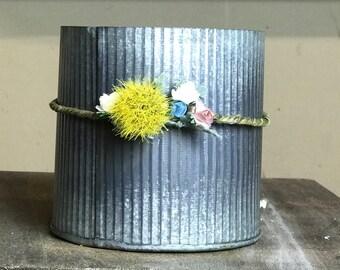 Floral wire flower crown