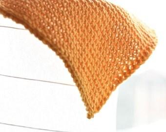 Yellow Knit Dishcloth