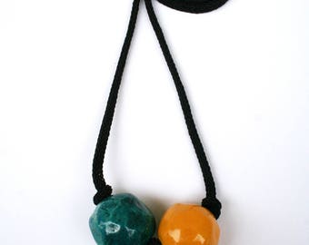 oil and love beads long necklace