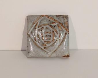 Briar Rose Bloom Handmade Ceramic Wall Hanging Art Nouveau Abstract