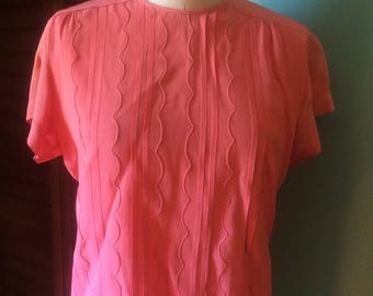 1940S Coral Blouse