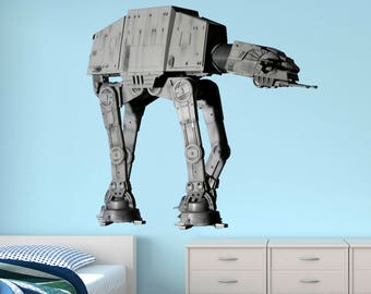 Imperial Walker Wall Decal Star Wars Wall Decal Kids Decal Star Wars Mural Star Wars Imperial Walker Vinyl Wall Decal