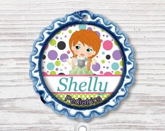 Nurse Badge Reel | Ice Princess Bottle Cap Badge Reel | Nurse Badge Reel | Bottle Cap Retractable Badge Reel | Nurse Badge Reel | CNA Badge