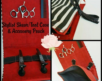 Hair Stylist Shear Tool Case & Accessory Pouch - MADE TO ORDER - Stylist Shear Case - Stylist Tool Case - Hair Stylist