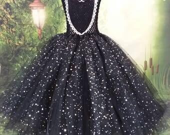 Maleficent costume, Flower girl dress, bridesmaid dress, pageant gown, Princess dress, black dress, tutu dress