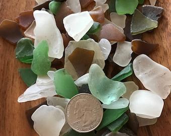 Hawaiian Sea Glass (Lot of 5) medium pieces, selected randomly