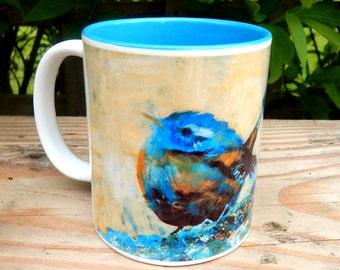 Ceramic two Tone Mug  Jenny Wren