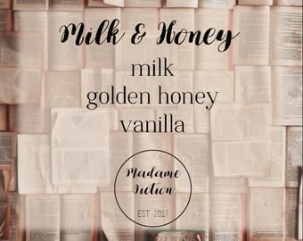 Milk & Honey - 8oz Candle - Rupi Kuar - Scented Soy Candle - Book Lover Gift