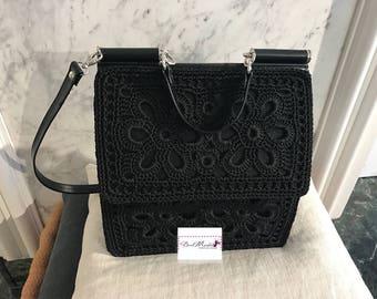 Handmade bags, crochet, Miss Sicily, lanyard