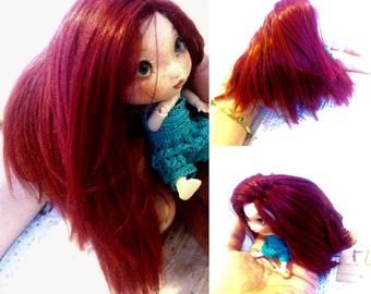 5 .taille Firefly chibi of waterlilies doll wig going to aux mh Cape semi solid... 100% hand made.