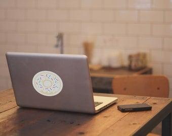 Donut Laptop Sticker