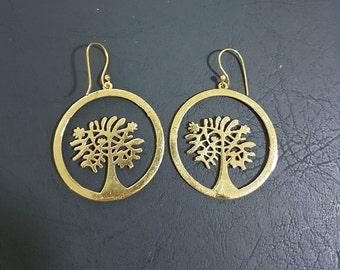 Tree of life Brass tribal gypsy boho ethnic hippie jewelry