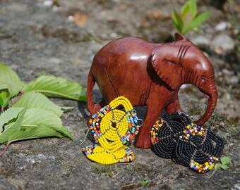 Square Beaded Earrings - Handmade in Zambia, Africa