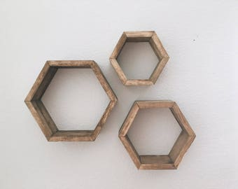 Modern Geometric Shelf- Hexagon Honeycomb Shelf