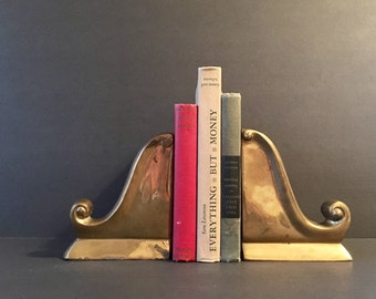 Brass scroll bookends