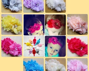 Baby Girls Headband Flower Pearl Rhinestone Hairband Hair Accessories