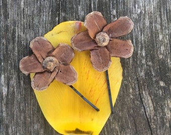 Natural Flower Bobby Pin Barrette