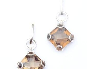 Smoky Quartz Sterling Silver Earrings