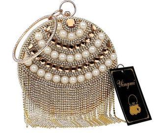 Evening Bags Circular Shaped Diamonds