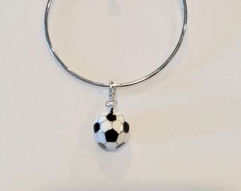 Charm Bracelet with Soccer ball charm