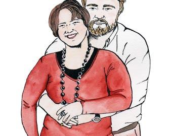 illustration: couples portraiture