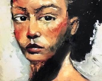Portrait of a woman, Janasredroom, Jannasredroom